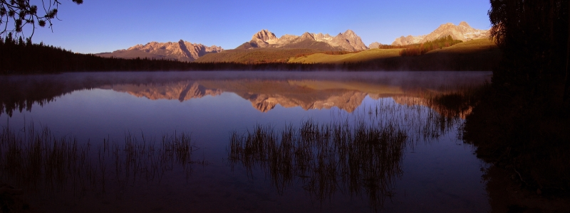 Little Redfish Lake Sunrise Reflection