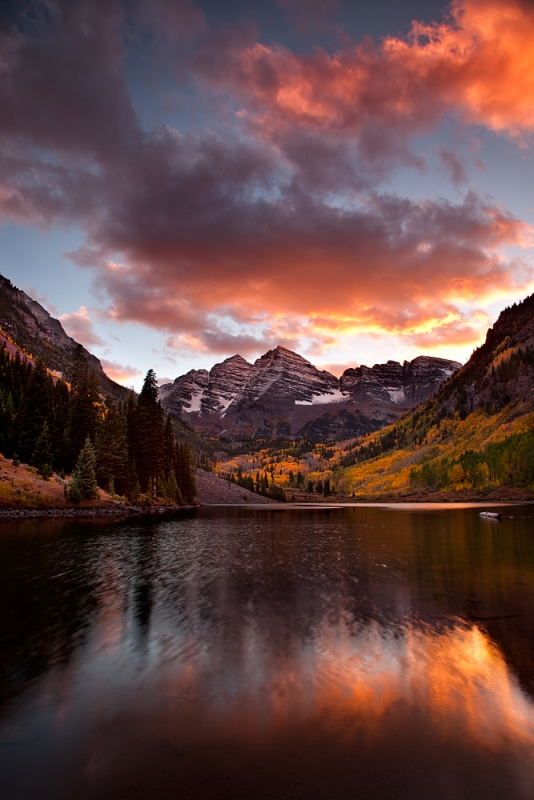 Sunset, Maroon Bells