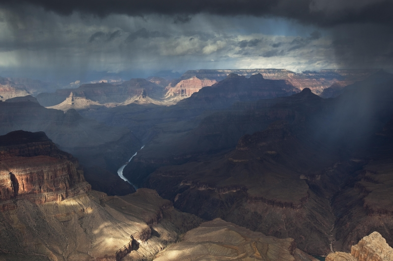 Storm Moving Through, Pima Point, Grand Canyon Np