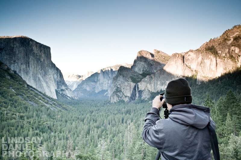 Photographer At Tunnel View