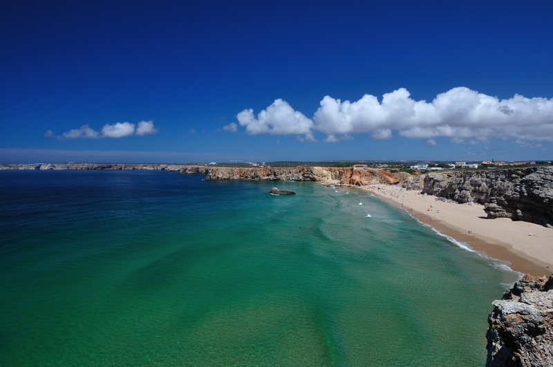 View On The Beach In Sagres