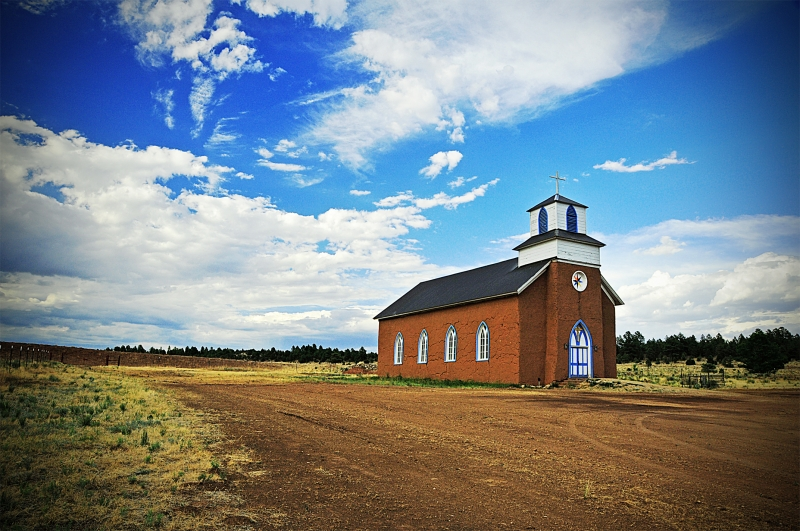Church At Mora, Nm