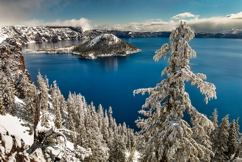 Spring Snowfall, Crater Lake National Park