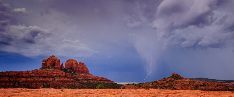 Lightning Storm Over Red Rocks, Sedona