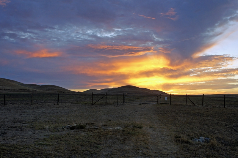 Sunrise Before The Storm At Rush Ranch