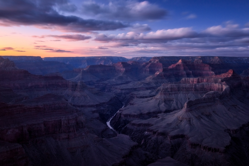 Last Light At Grand Canyon