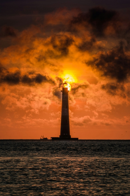 Morris Island Light At Sunrise
