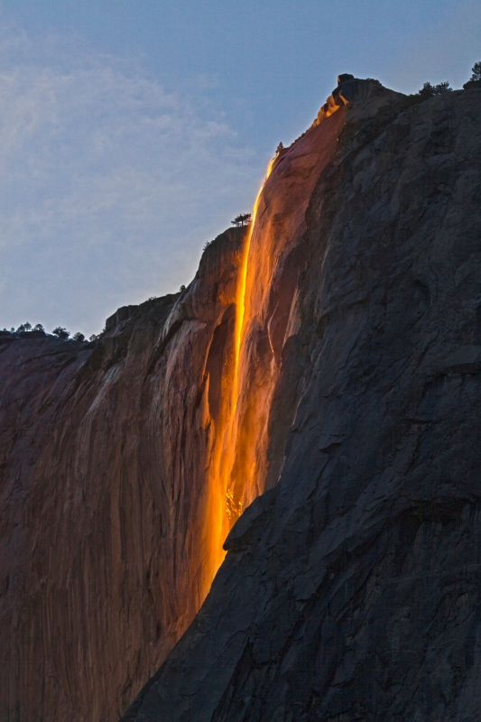 Fire Fall At Horsetail Falls