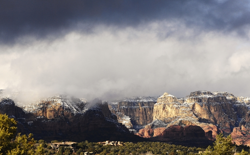 Sedona In Snow.