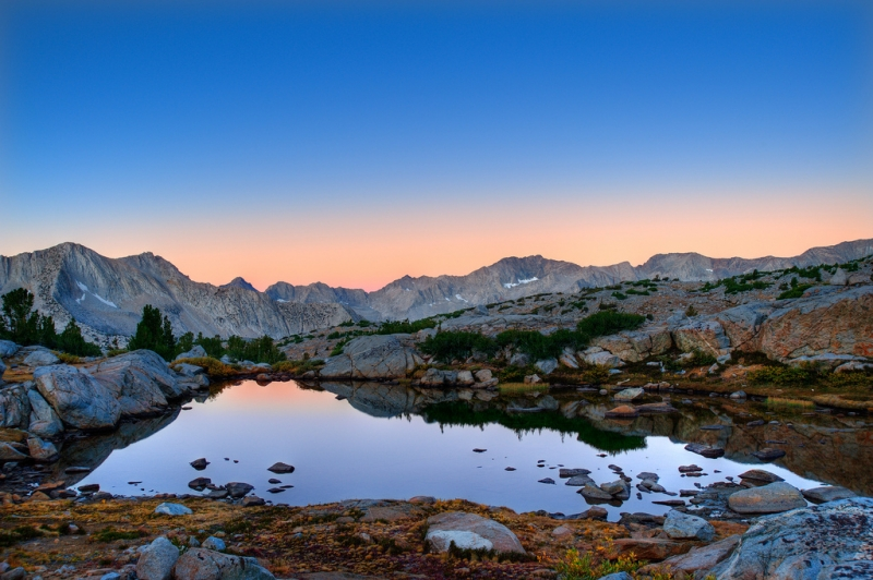 Sunset Comes To Kings Canyon National Park