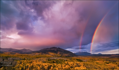 Double Rainbows And Fall Colors