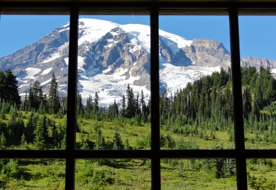 Mount Rainier Framed
