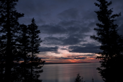 Autumn Sunset On Waskesiu Lake