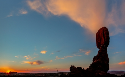 Sunset At Balanced Rock, Arches National Park