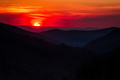Sunset At Morton's Overlook
