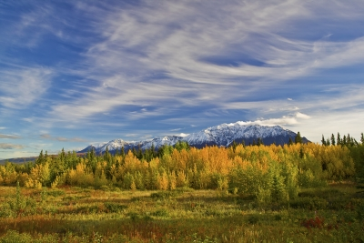 Canada, Yukon, Alaska Highway, Haines Junction,  Sunset, Fall Colors, 加拿大,  育空,  阿拉斯加高速公路, 秋色
