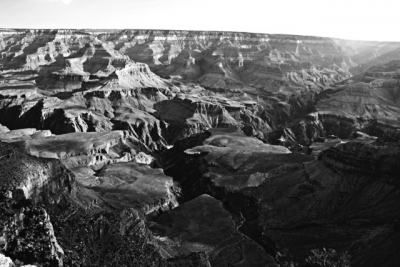 Black And White Canyon View