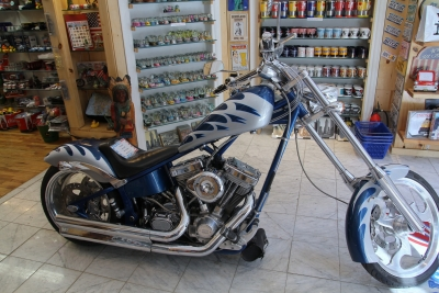 Chopper In A Shop