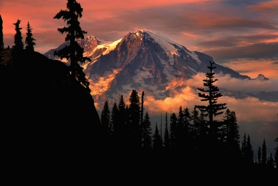 Sunset Mt. Rainier Washington