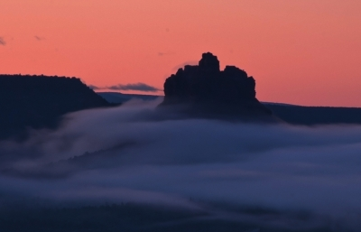 Morning Fog Around Bell Rock