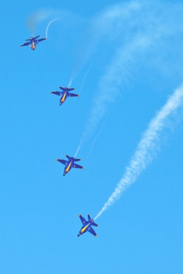 Blue Angel Break Out And Roll From Formation