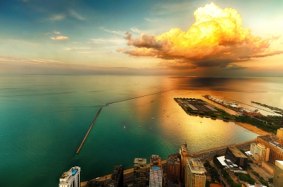Summer Sunset Cloud Overnavy Pier