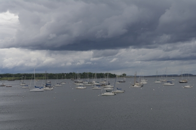 Storm Over Rockland Harbor