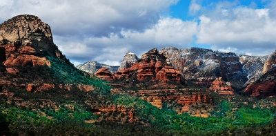 Blue Sky,red Rock And Green Valley  Sedona