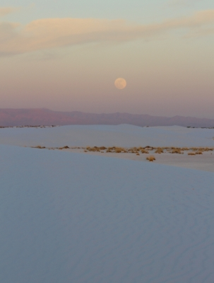 Moonrise At White Sands