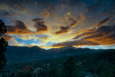 November Sunset Over Pikes Peak