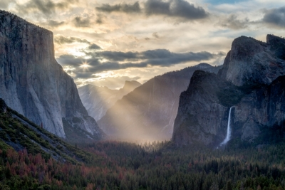 Tunnel View God Rays