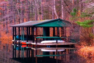 Boathouse At Dawn