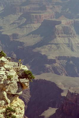 Pointing At The Grand Canyon
