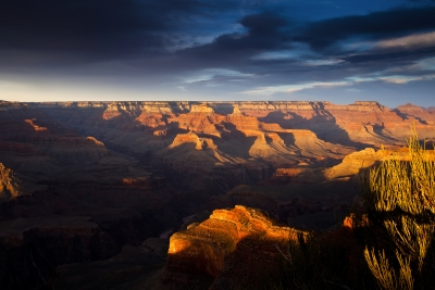 Shadows And Light In The Grand Canyon