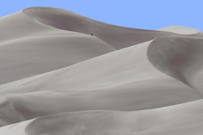 Hiker At The Great Sand Dunes
