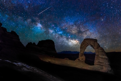 Milky Way And The Meteor