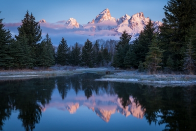 Morning Veil Over The Tetons
