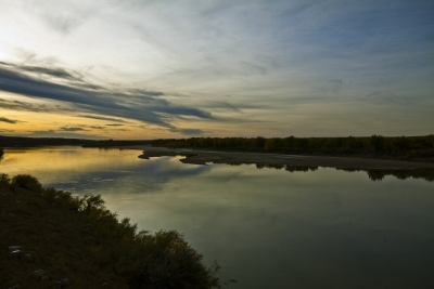 Autumn Sunset On South Saskatchewan River
