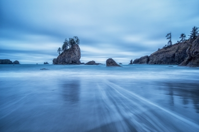 Blue Hour At Second Beach