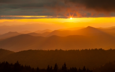 Sunset On The High Country, North Carolina
