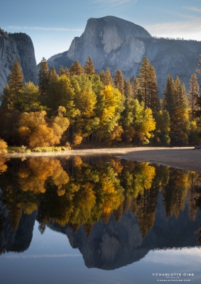 Half Dome Fall Reflection