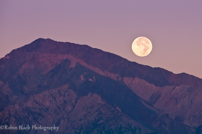Harvest Moonset Over Mt. Tom