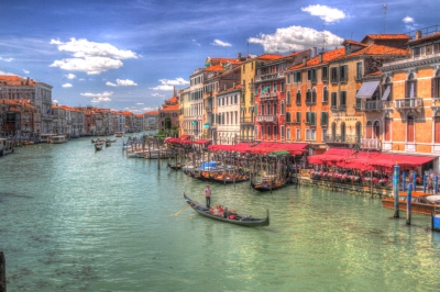 Meandering Down The Canal In Venice
