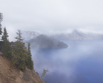 Crater Lake In The Fog