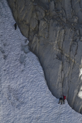 Climber On North Peak (eastern Sierra)