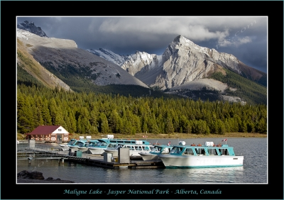 Maligne Lake And Leah Peak