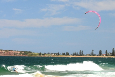 Parasurfing At Narrabeen Beach, Nsw