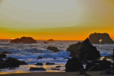 Sunset At Arched Rock