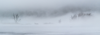 Winter Fog On Rock River 1073