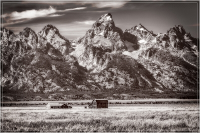 Teton Range And Thomas Murphy Homestead